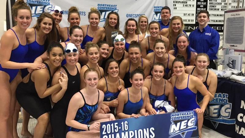 CCSU Swimming and Diving Wins Second Straight NEC Title