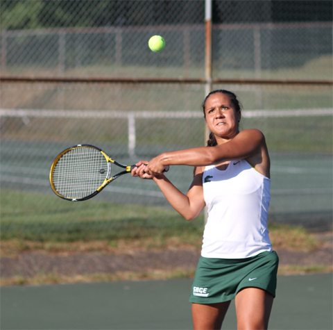 Golden Eagles Top Sage 5-4 in women's tennis action