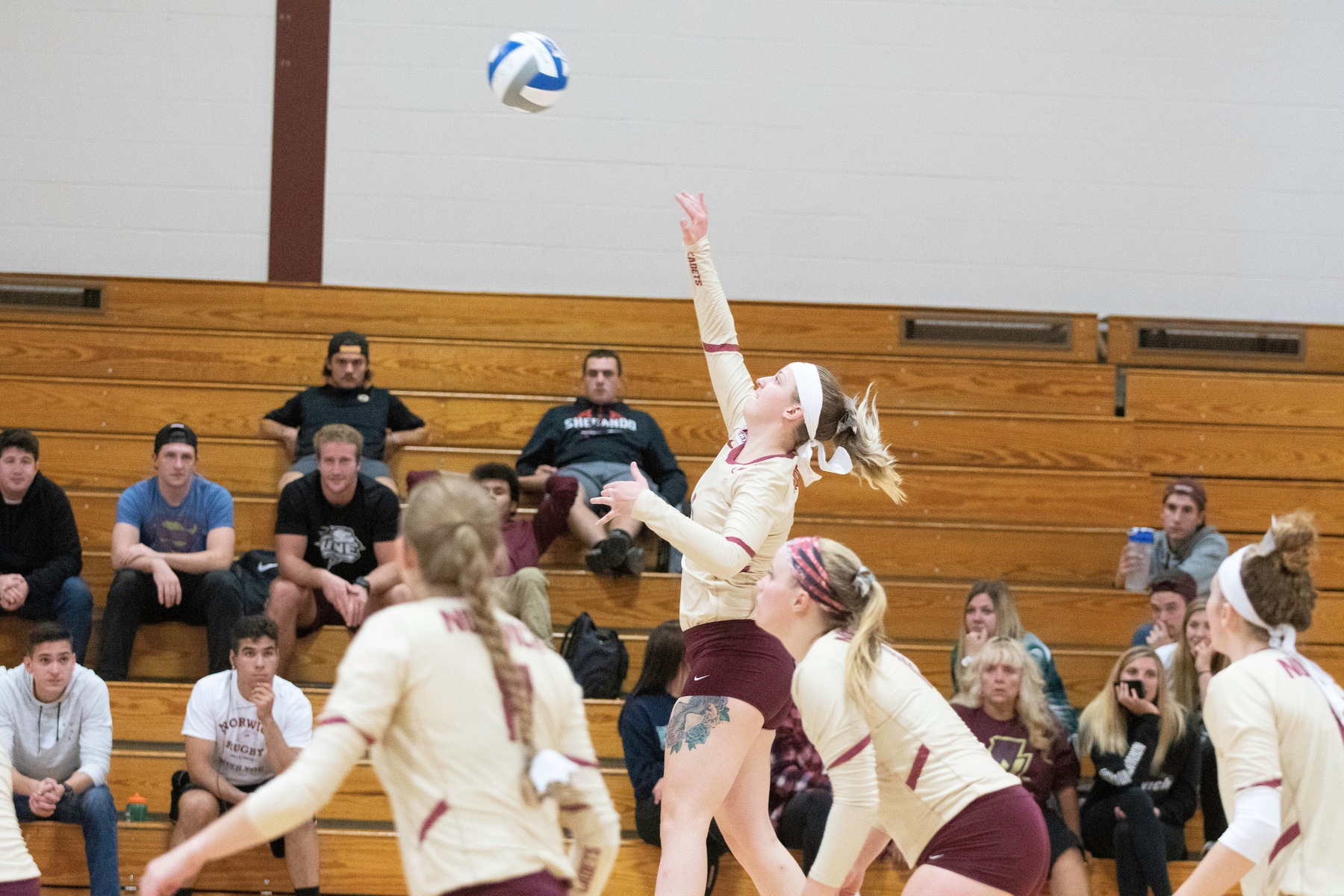 Volleyball: Cadets split non-conference tri-match, defeats MCLA 3-2