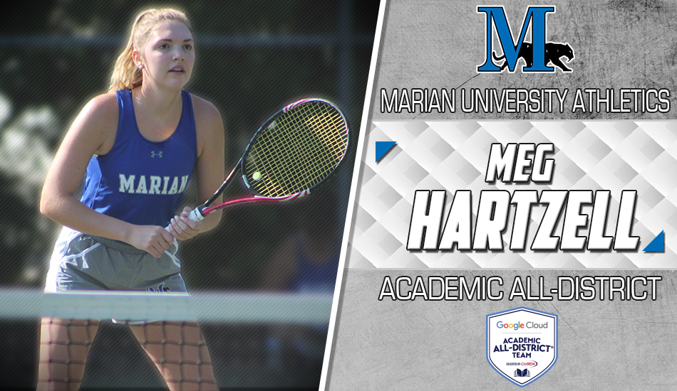 Meg Hartzell Google Cloud Academic All-District� graphic.