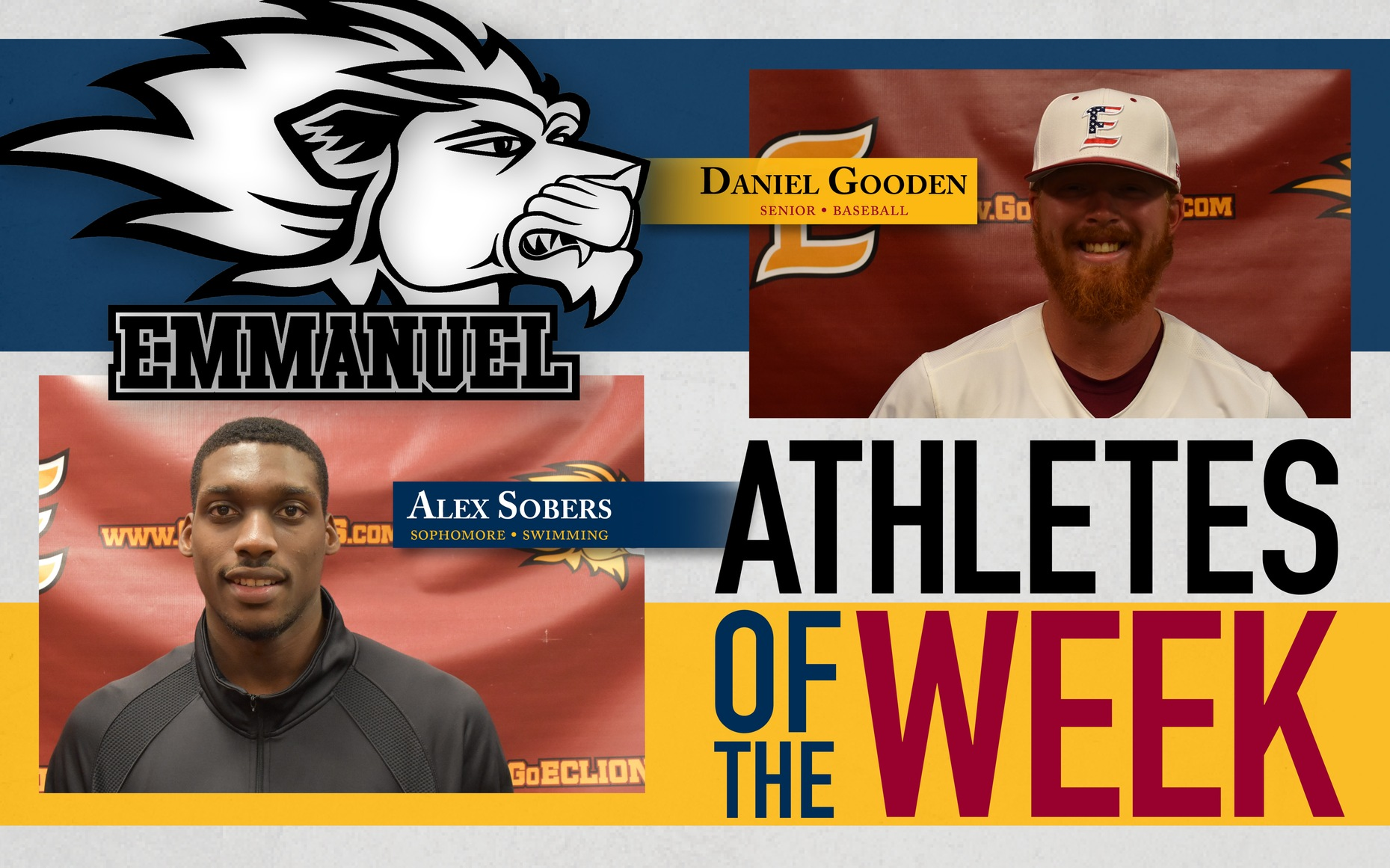 Gooden and Sobers Named Athletes of the Week