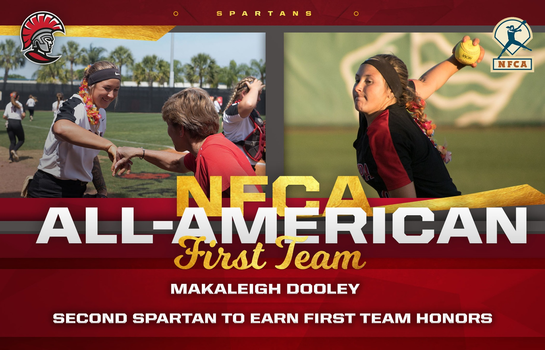 Makaleigh Dooley Named All-American, by NFCA and D2CCA
