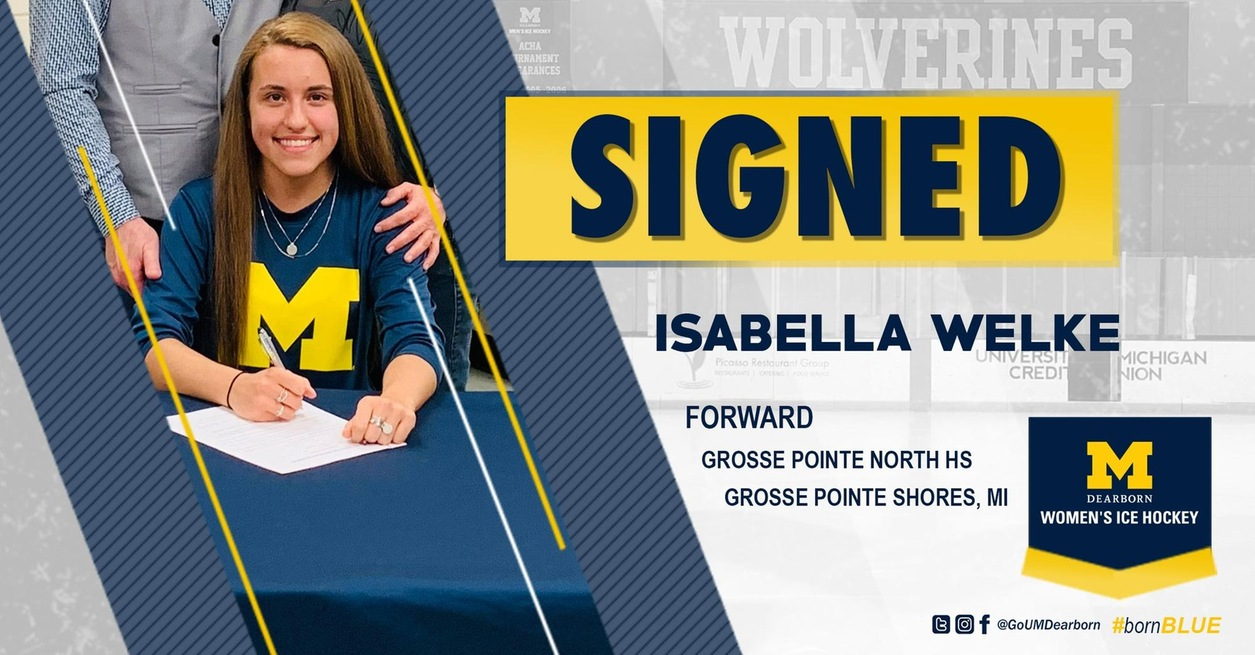 Women's Ice Hockey signs Isabella Welke