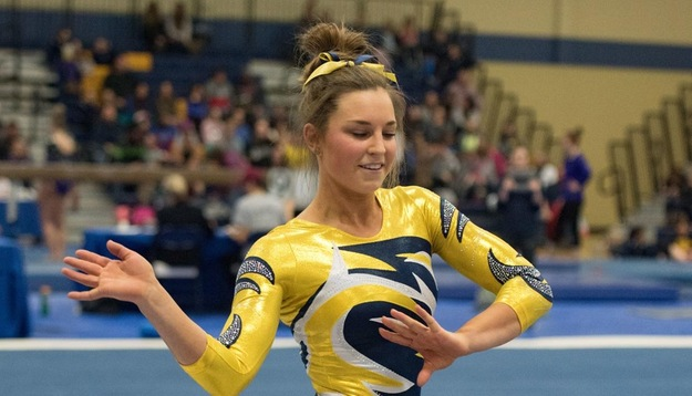 Erickson wins second-straight All-Around, Blugolds finish 2nd overall