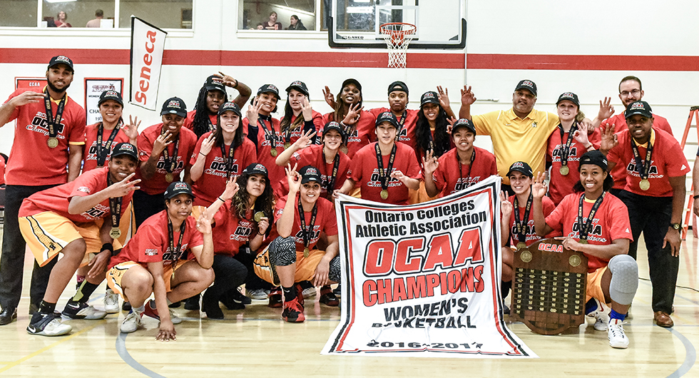 Hawks top Mountaineers, 76-40, to capture third straight provincial title and ninth in program history.