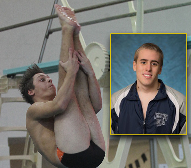 Phelps, Moser honored as Men's Swimming & Diving Athletes of the Week