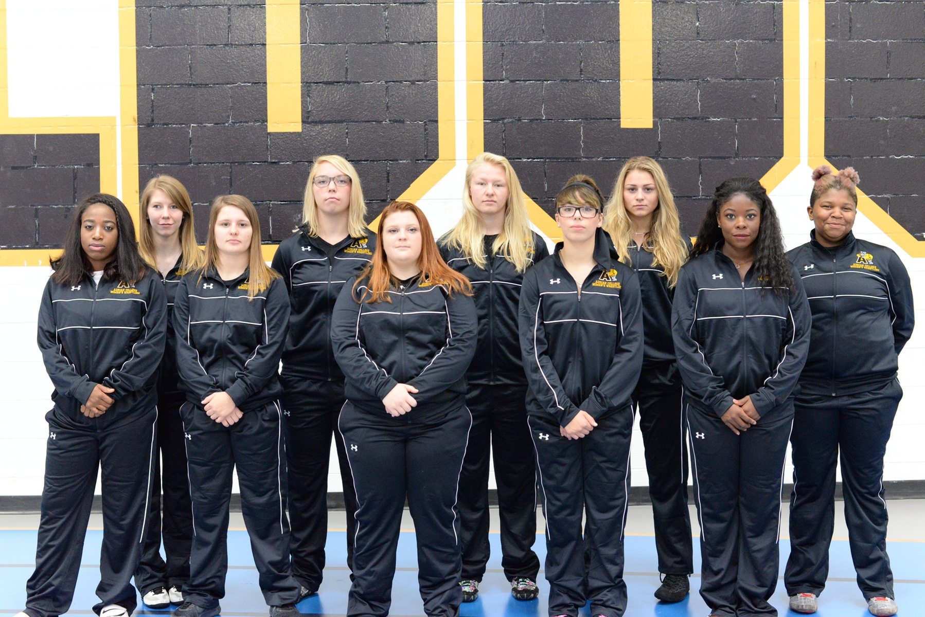 The 2017-18 edition of the Adrian College women's wrestling program in its third season. (Photo: Patrick Stewart)
