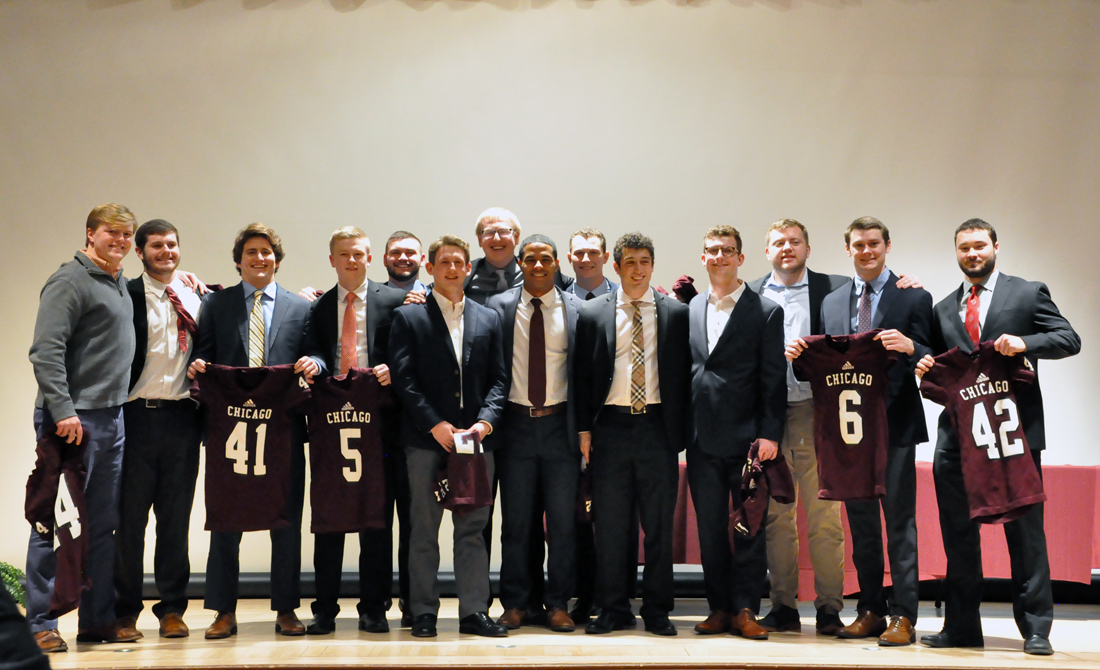UChicago Football Hands Out 2018 Awards at Annual Banquet
