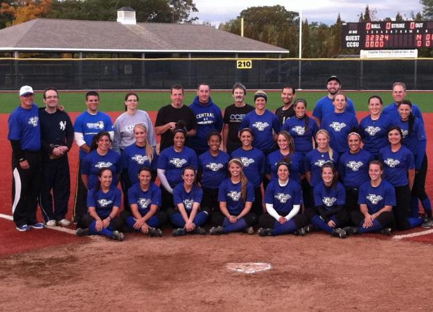 Faculty and Staff Face Softball Team