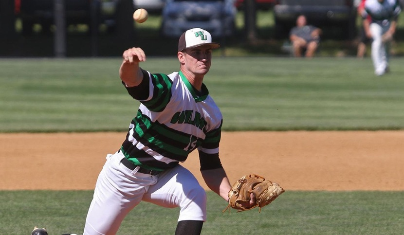 Copyright 2017; Wilmington University. All rights reserved. File photo of Brad Scull who struck out 10 batters in seven innings against Stonehill. Photo by Frank Stallworth. May 2, 2017 vs. West Chester.