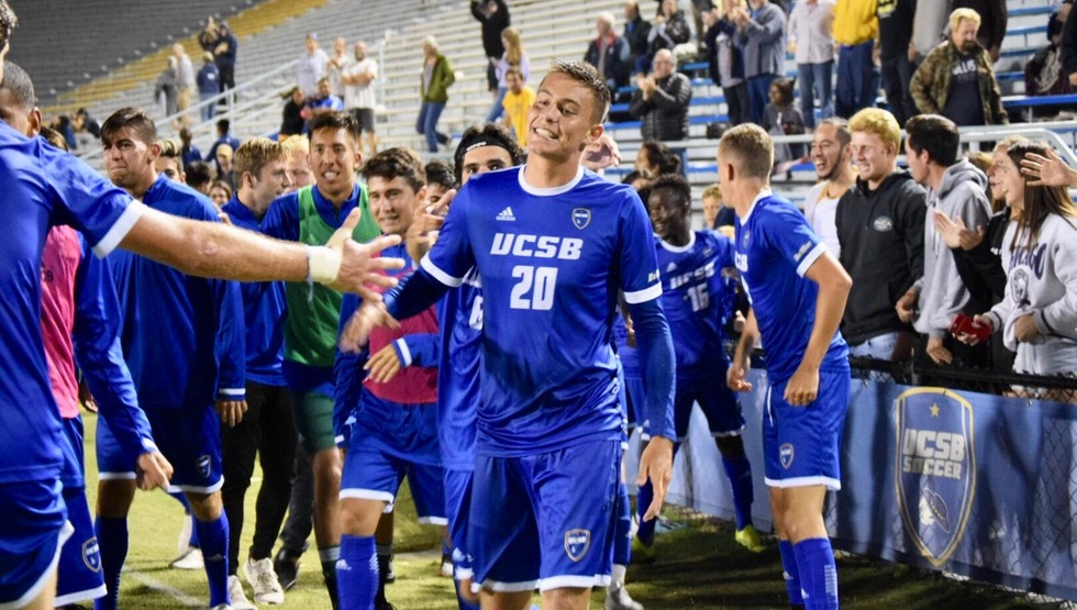 Will Baynham fired the Gauchos into a season-opening win with a 107th minute goal. (Photo by Gabrielle Penner)