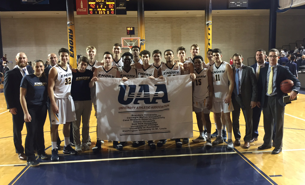 UAA CHAMPS!! -- Emory Men's Basketball Pulls Away From Rochester To Win UAA Title