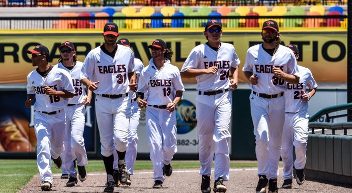 The Eagles saw their season end today with a 5-2 loss to State College of Florida in the state tournament. They finished the season 41-13 and won their fourth straight Suncoast Conference championship. (Photo by Tom Hagerty, Polk State.)