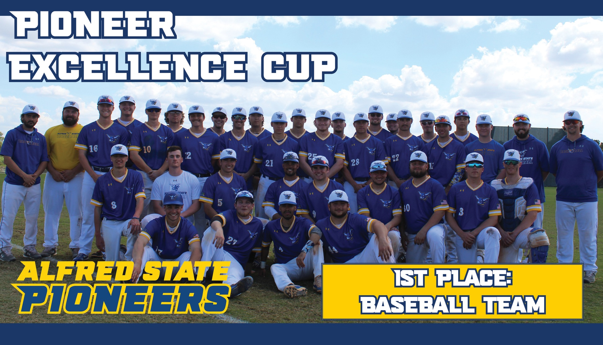Alfred State baseball team wins the 2019-20 Pioneer Excellence Cup