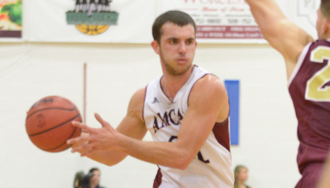 Bradanese Nets 1,000th Point as Men's Basketball Falls to Emmanuel, 80-79