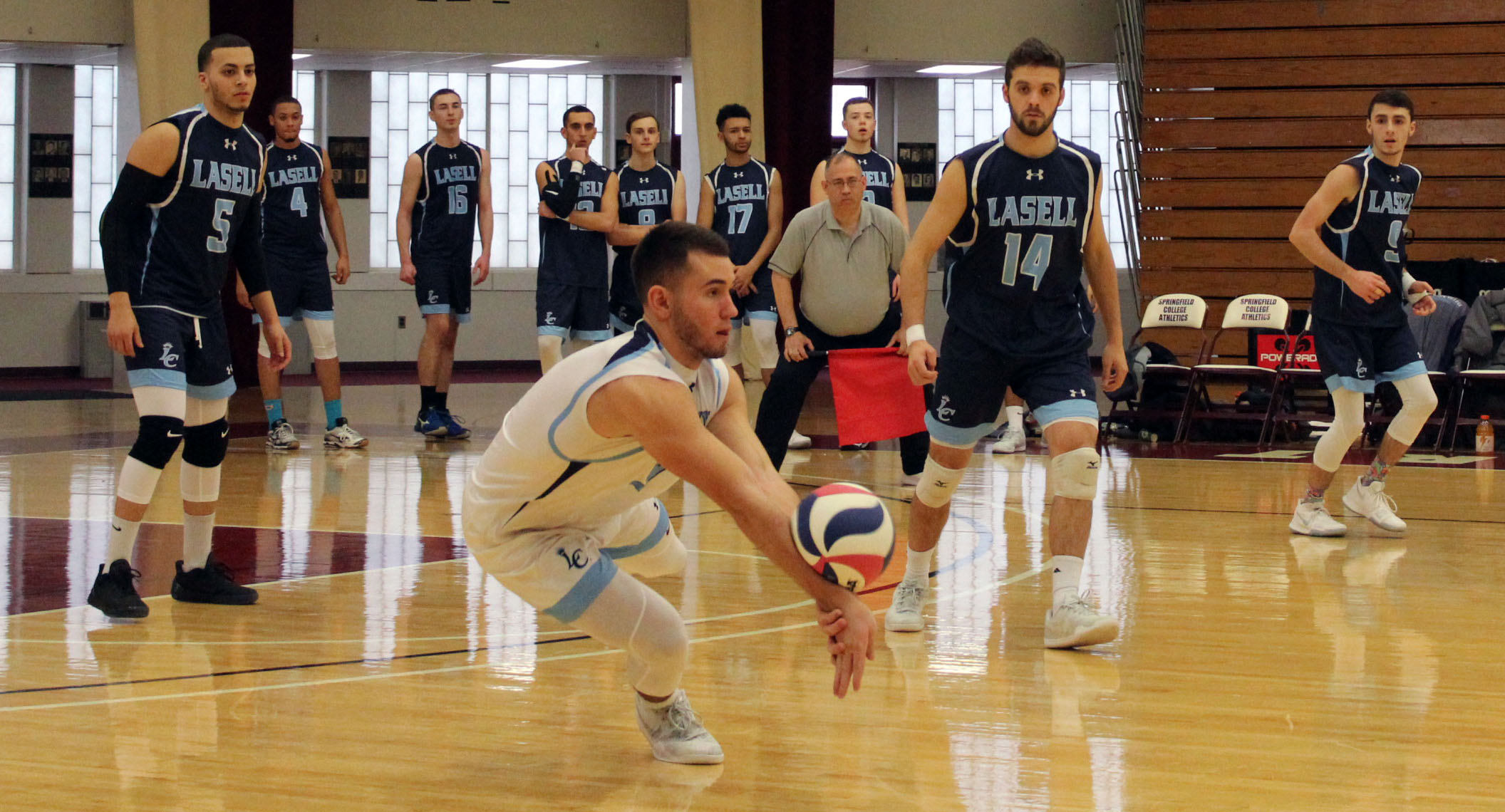 Lasell Men's Volleyball falls to Endicott