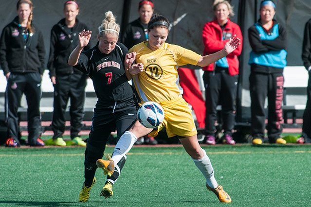 Nikki Mann helped the Titans record their sixth shutout of the season