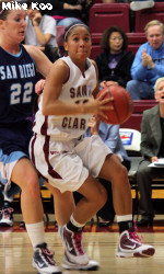 San Diego Pulls Out Victory Over SCU, 67-58