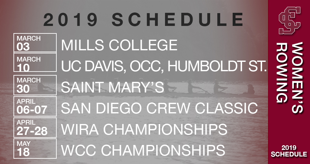 Women's Rowing Releases 2019 Schedule