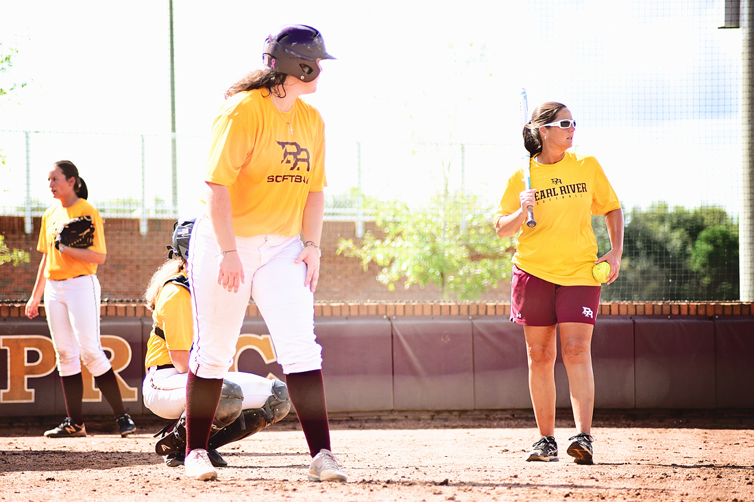 The Pearl River softball team goes through drills during fall practice on Tuesday, Sept. 12, 2018. (KRISTI HARRIS/PRCC ATHLETICS)