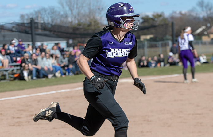 Tierney Knocks 100th Hit, Softball Splits Twinbill at 2018 NCAA Qualifier Merrimack