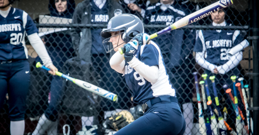 Brianna Baglino launched her first collegiate home run to give the Bears a 3-2 walk-off win in game one.