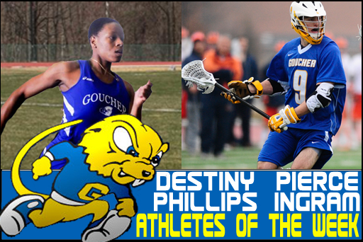Goucher Produces Pair of Top Performers for March 19-25