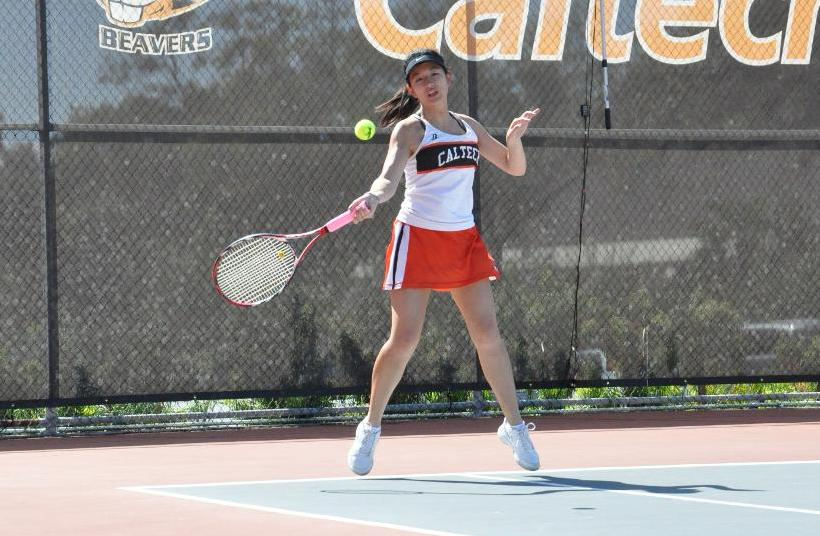 Sophia Chen Stars as Women's Tennis Dominates Principia, 8-1