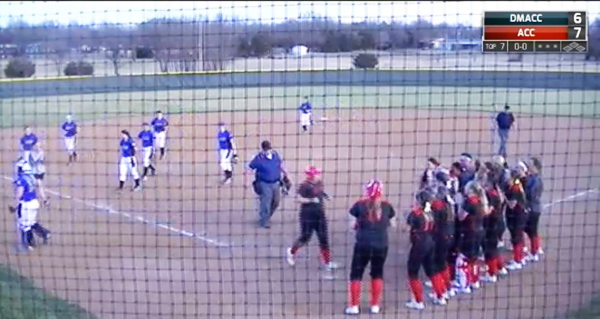 Big hitting performance carries The Lady Red Devils past Des Moines Area CC 7-6