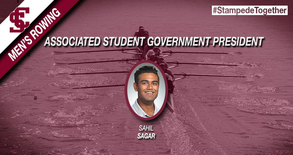 Sahil Sagar of Men's Rowing Voted Associated Student Government President