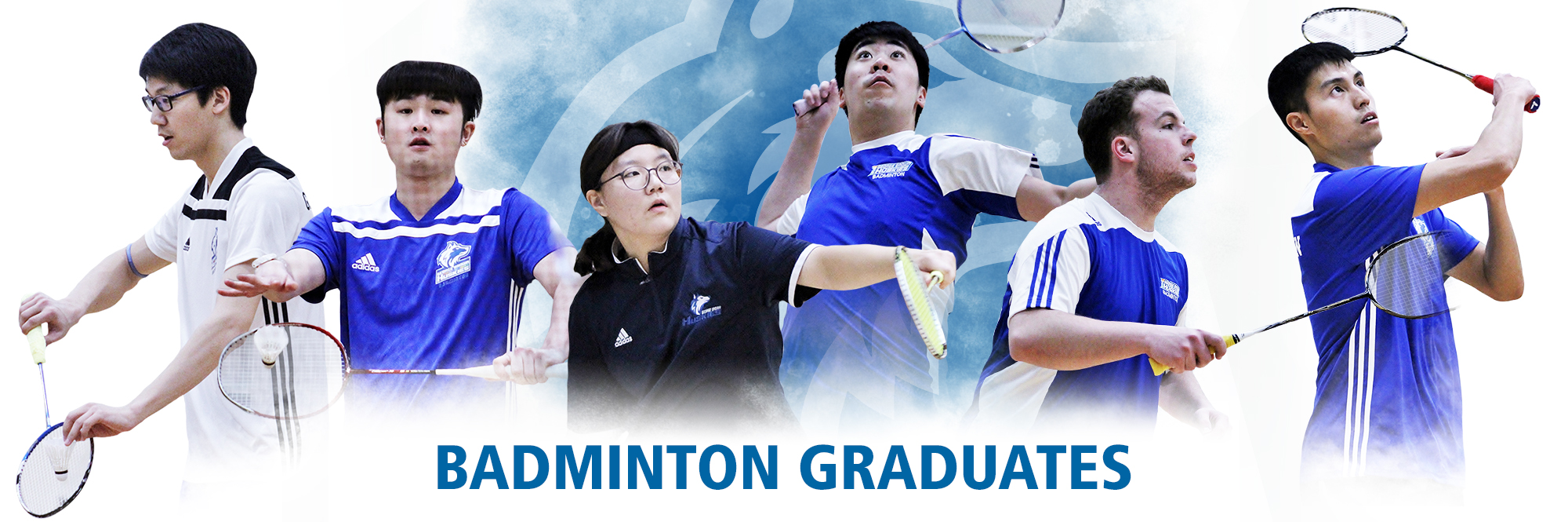 CELEBRATING SIX GRADUATING HUSKIES ON THE EVE OF THE CCAA NATIONAL BADMINTON CHAMPIONSHIP