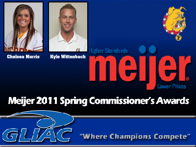 Two Ferris State Student-Athletes Claim Spring 2011 GLIAC Commissioner's Award