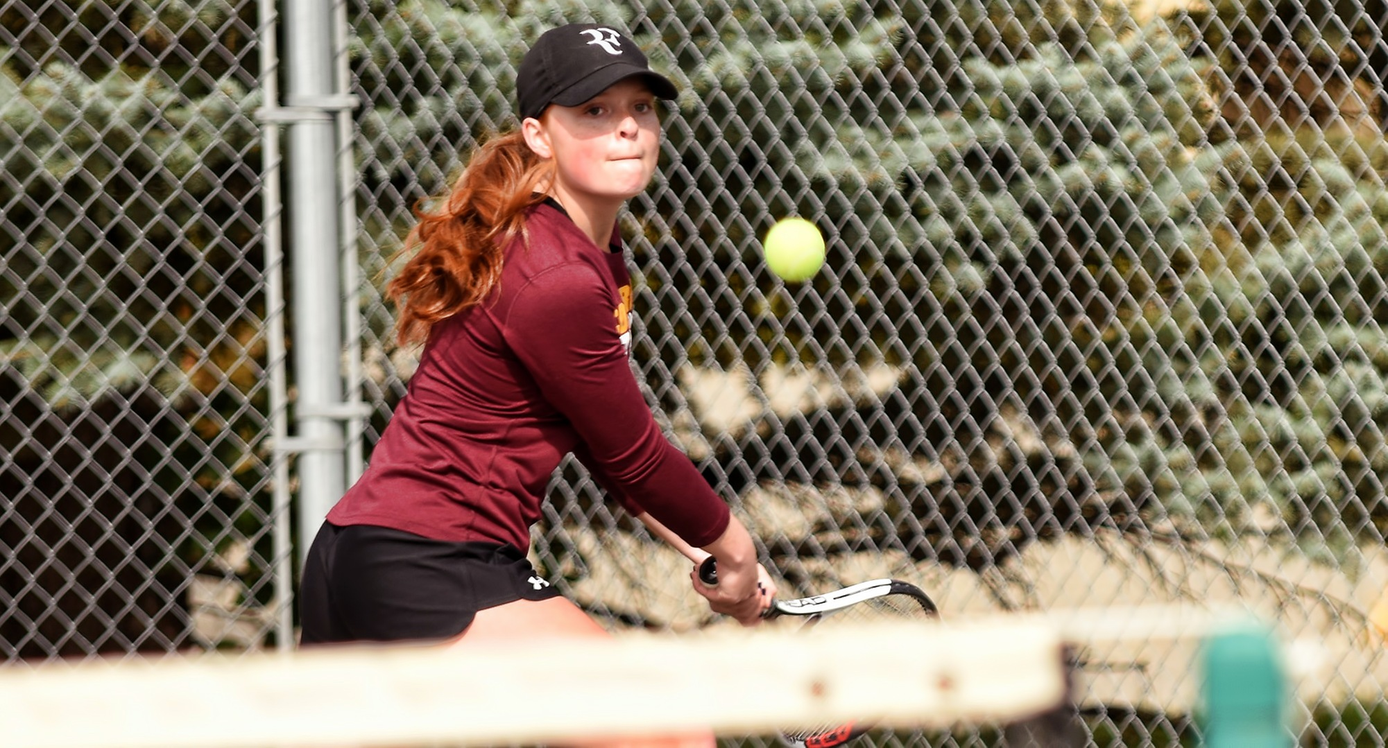 Sophomore Brianna Bell earned one of the five singles wins for the Cobbers against St. Scholastica. Bell now has two wins in her first three matches of the year.