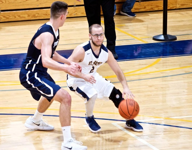 Old Westbury Hands Men's Basketball First Conference Defeat