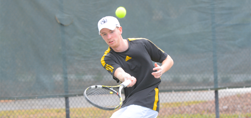 Junior ITA Scholar Athlete and All-OAC player Dominic Polifrone won both his OAC semifinal matches against John Carroll