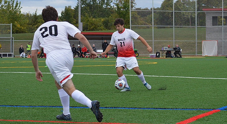 Wells Men's Soccer Edged By Keuka