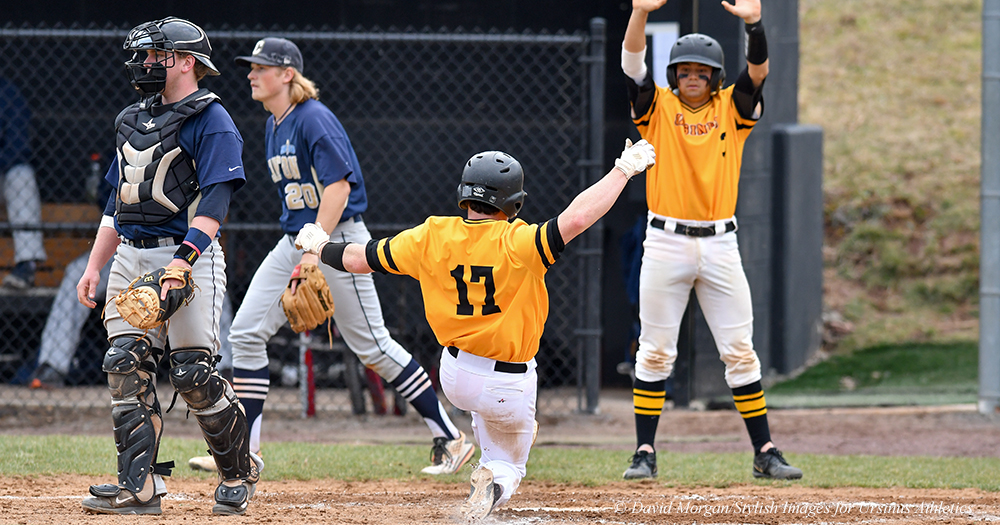 Baseball Clinches Sweep with Late Outburst