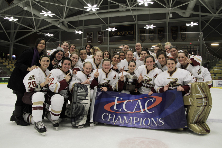 Women's Hockey: Norwich tops Manhattanville 6-3 in ECAC East Championship