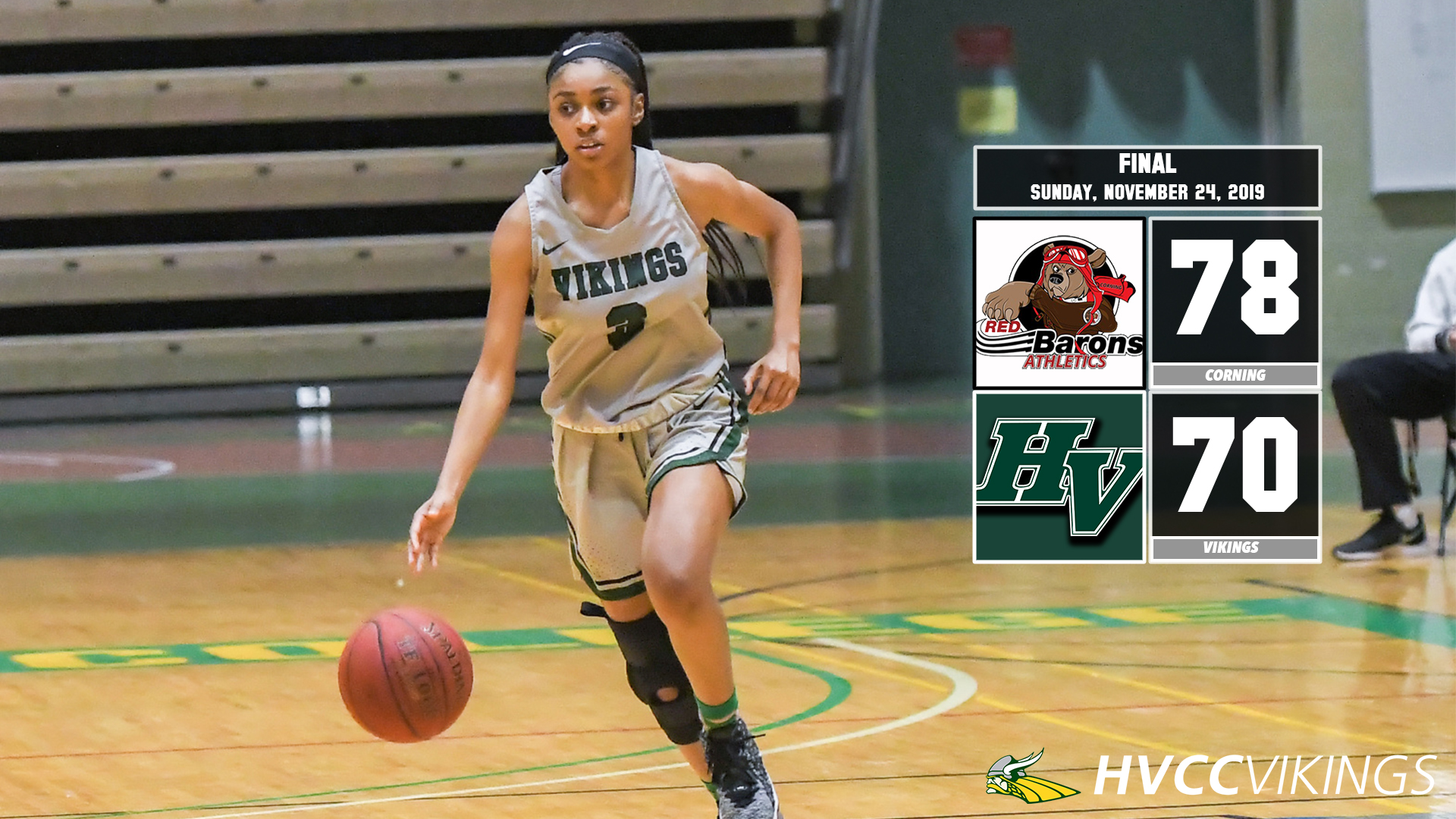 Women's basketball lost 78-70 to Corning on Nov. 24, 2019
