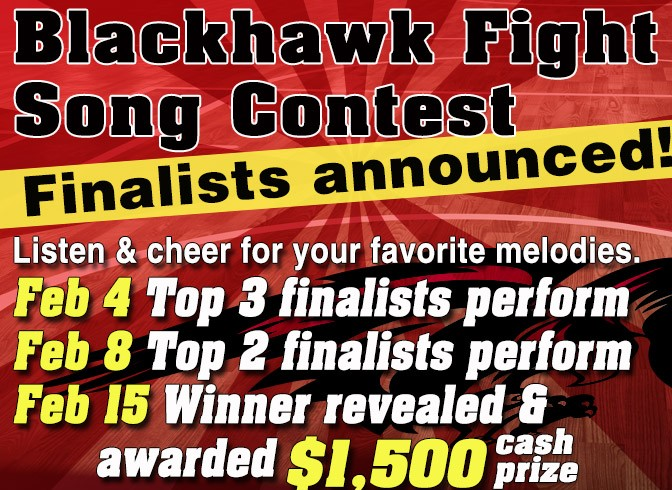 Photo for SCC Blackhawk Fight Song Contest Finalists Announced