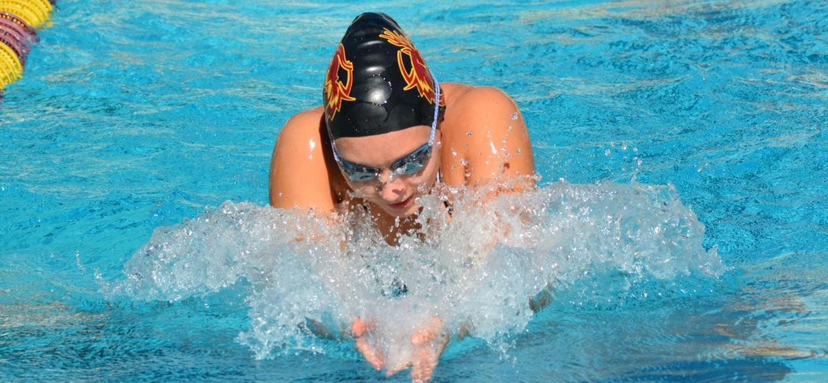 Suzanne Starzyk was part of a medley relay win in her first SCIAC Championship race