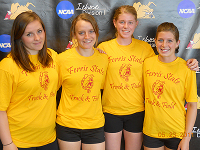 Pictured are (left to right): Jessica Pilling, Tina Muir, Samantha Johnson & Alyssa Osika