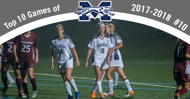 Women's Soccer 1-0 overtime win over Muhlenberg is #10 on Top 10 Exciting Games of 2017-18.