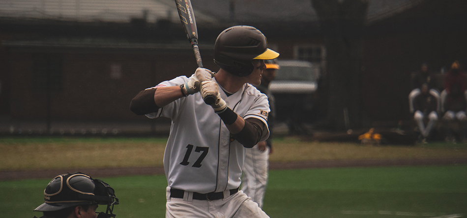Senior Kyle Pennington had a career-tying three hits in the second game of the doubleheader against Muskingum (Photo Courtesy of Alec Palmer)