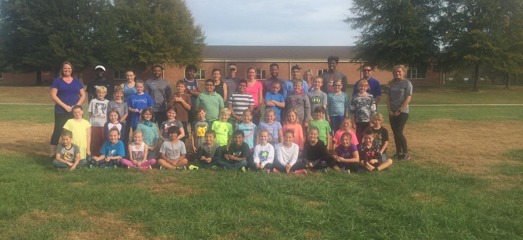Tornado Cross Country Spends Time at Pisgah Elementary