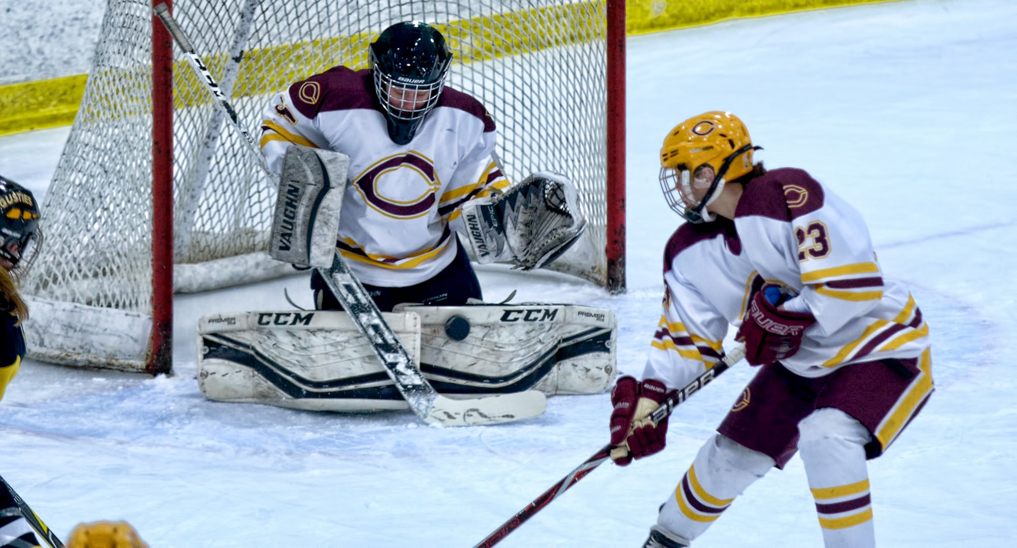 Goalie Amy Jost stopped the final 33 shots she faced to help Concordia earn a 2-2 OT tie at Augsburg and gain a spot in the MIAC playoffs.