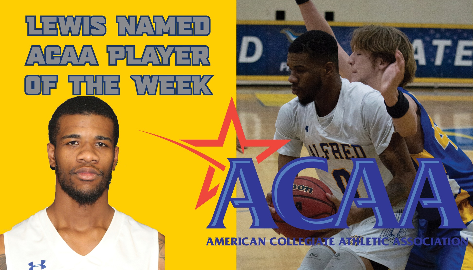 Taj Lewis Named ACAA Player of the Week