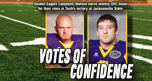 Campbell, Watson reap OVC Player of the Week honors