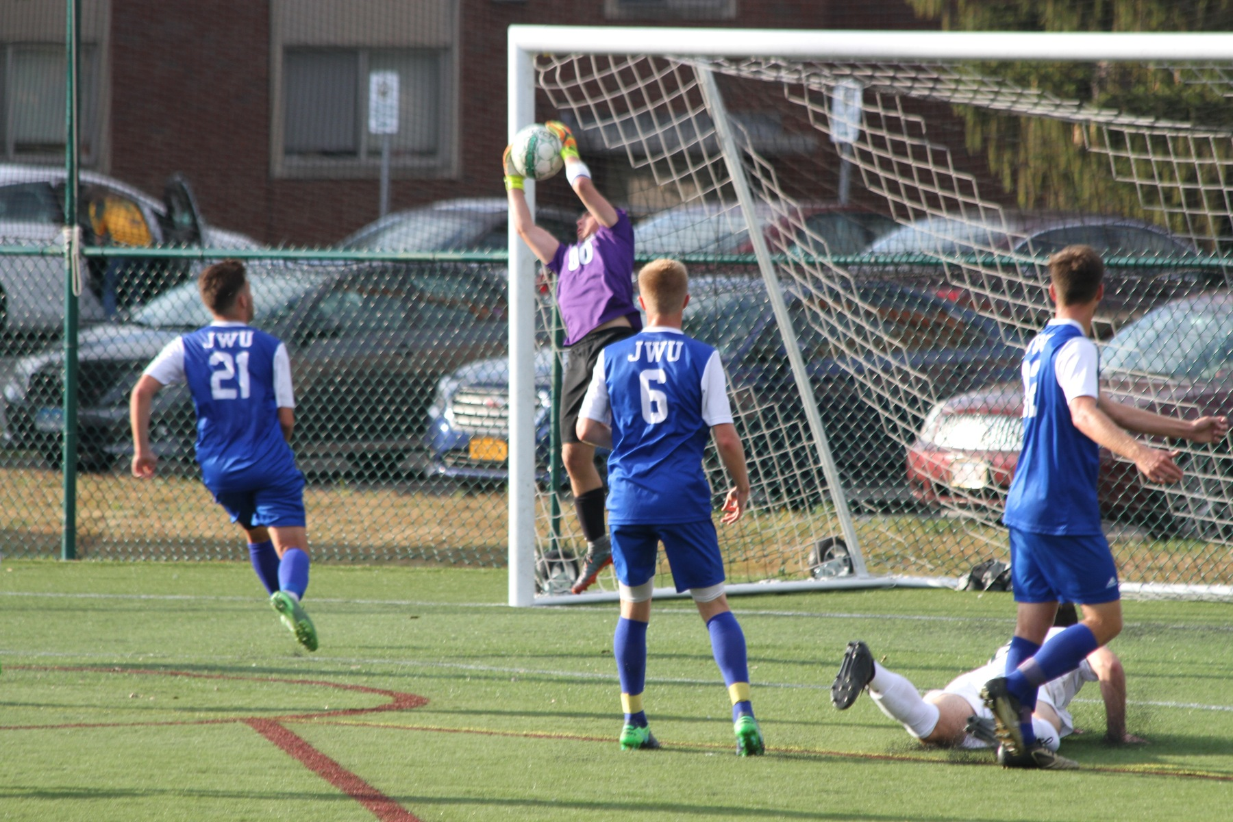 Penalty Kicks Lift Men's Soccer To NECC Championship Match