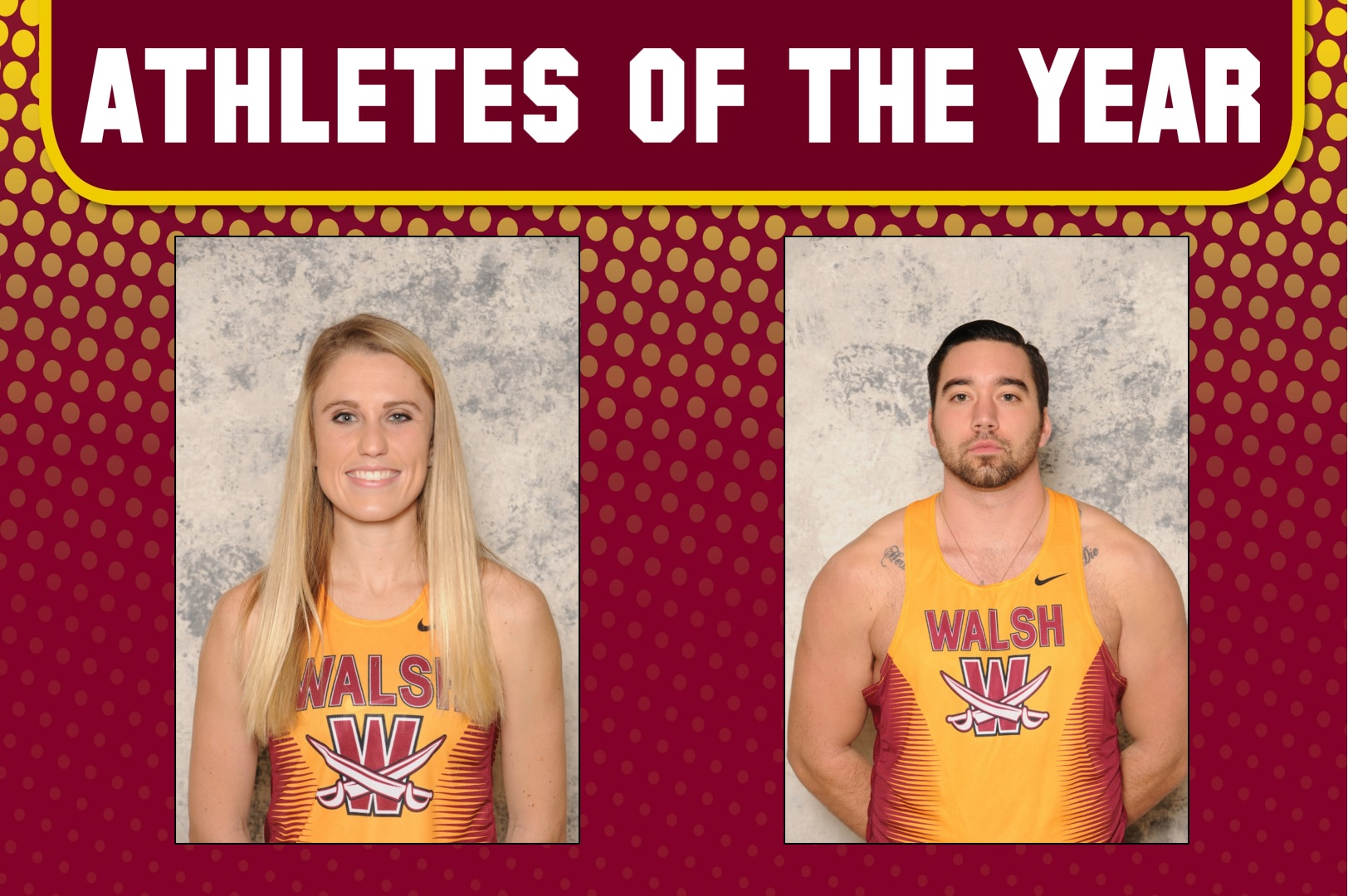 Berger, Myers Named 2017-18 Walsh Athletes of the Year